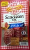 Saucisson sec tranches fines -25% de sel - Product