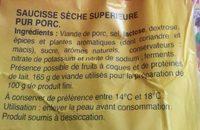 La juste sèche - Ingrédients - fr