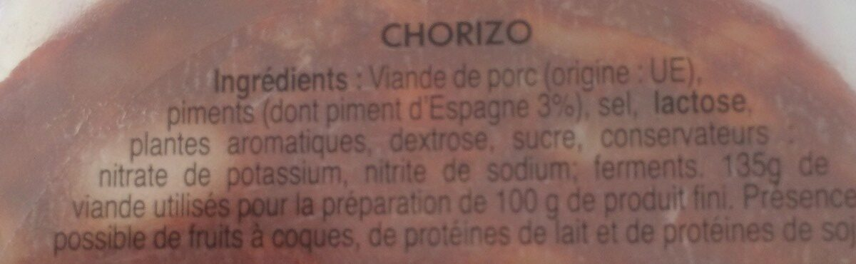 Chorizos - Ingredienti - fr