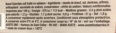 Les tranches de boeuf charolais - Ingredients - fr