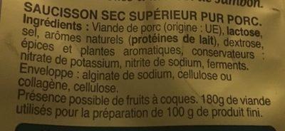 Mini bâton berger -25% de sel - Inhaltsstoffe - fr