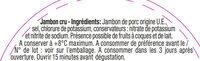 Le Quart Tranché -25% de sel - Aoste - Ingrediënten - fr