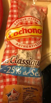 Saucisson sec classique VPF, sel réduit, COCHONOU - Product