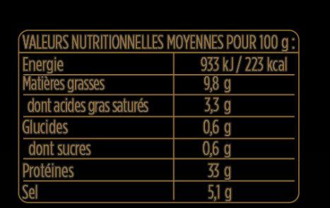 Les Grandes Tranches Jambon Serrano dégraissées - Aoste - Informations nutritionnelles - fr