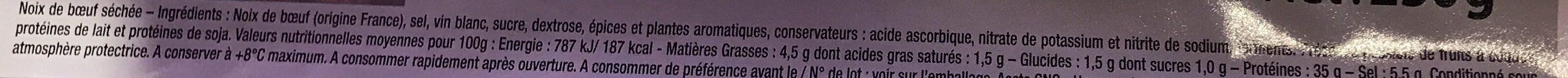 Les Tranches de Bœuf Séché - Ingredients - fr