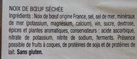 Noix de boeuf séchée - Ingrédients - fr