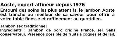 Les Grandes Tranches - Ingrédients - fr