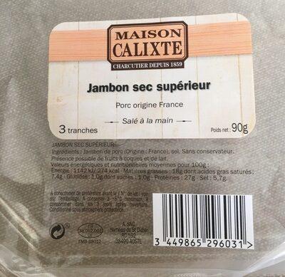 Jambon Sec Superieur - Prodotto - fr