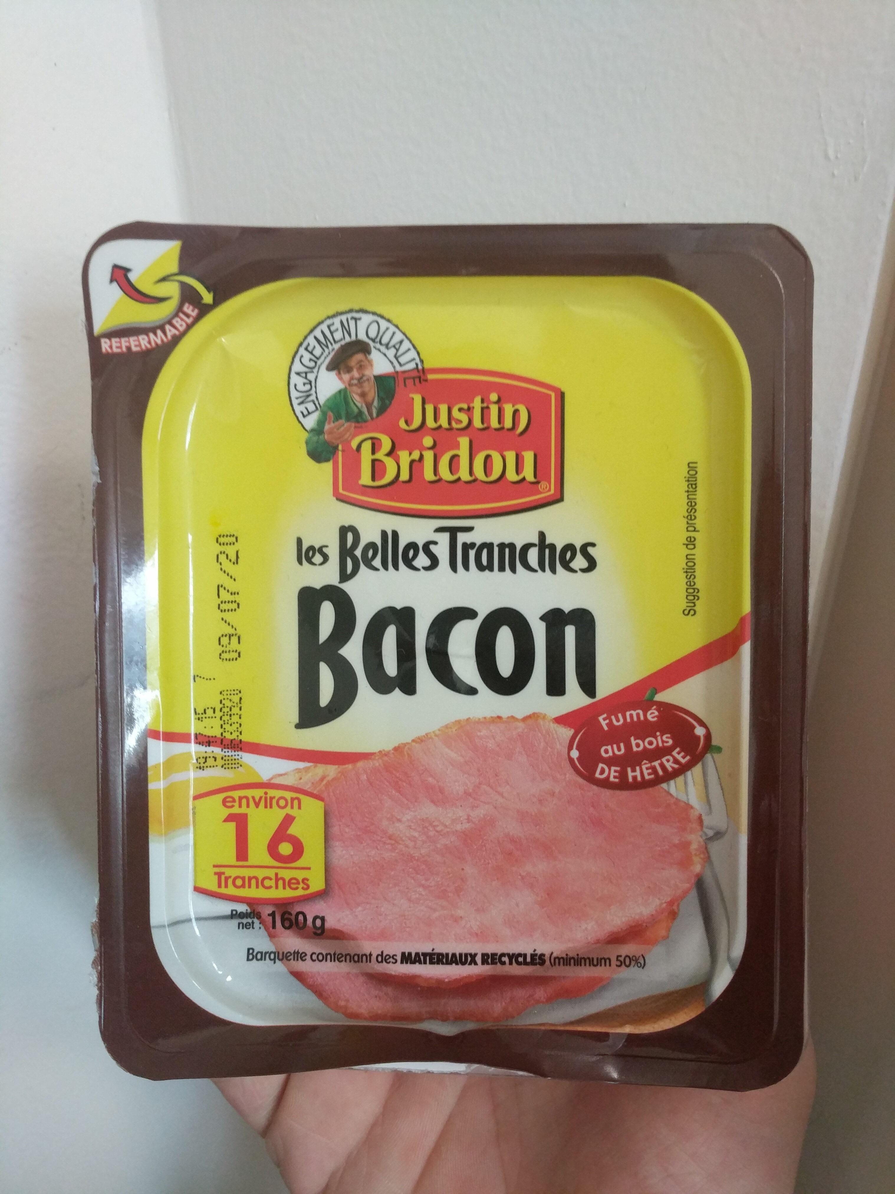 Les Belles Tranches Bacon Fumé au bois de Hêtre - Produit - fr