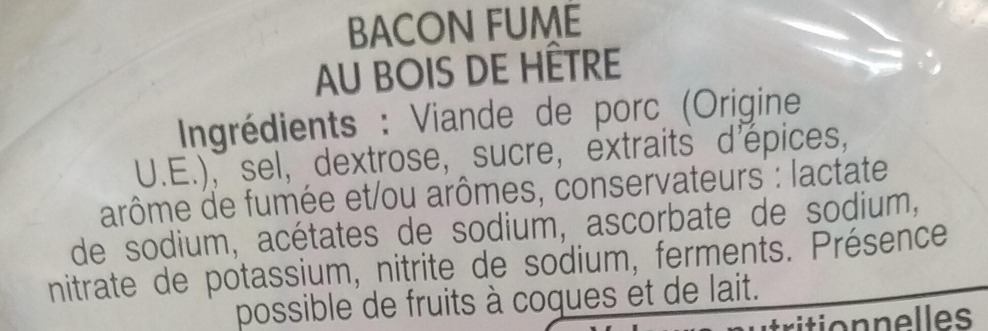 Les belles tranches bacon - Ingrédients - fr