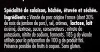 Noix de jambon - Aoste - Ingrédients - fr