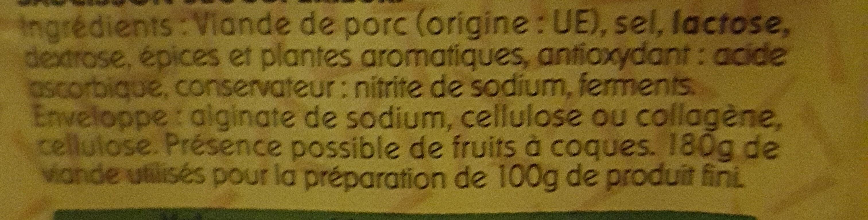 Bâton de berger Mini - Ingredients - fr