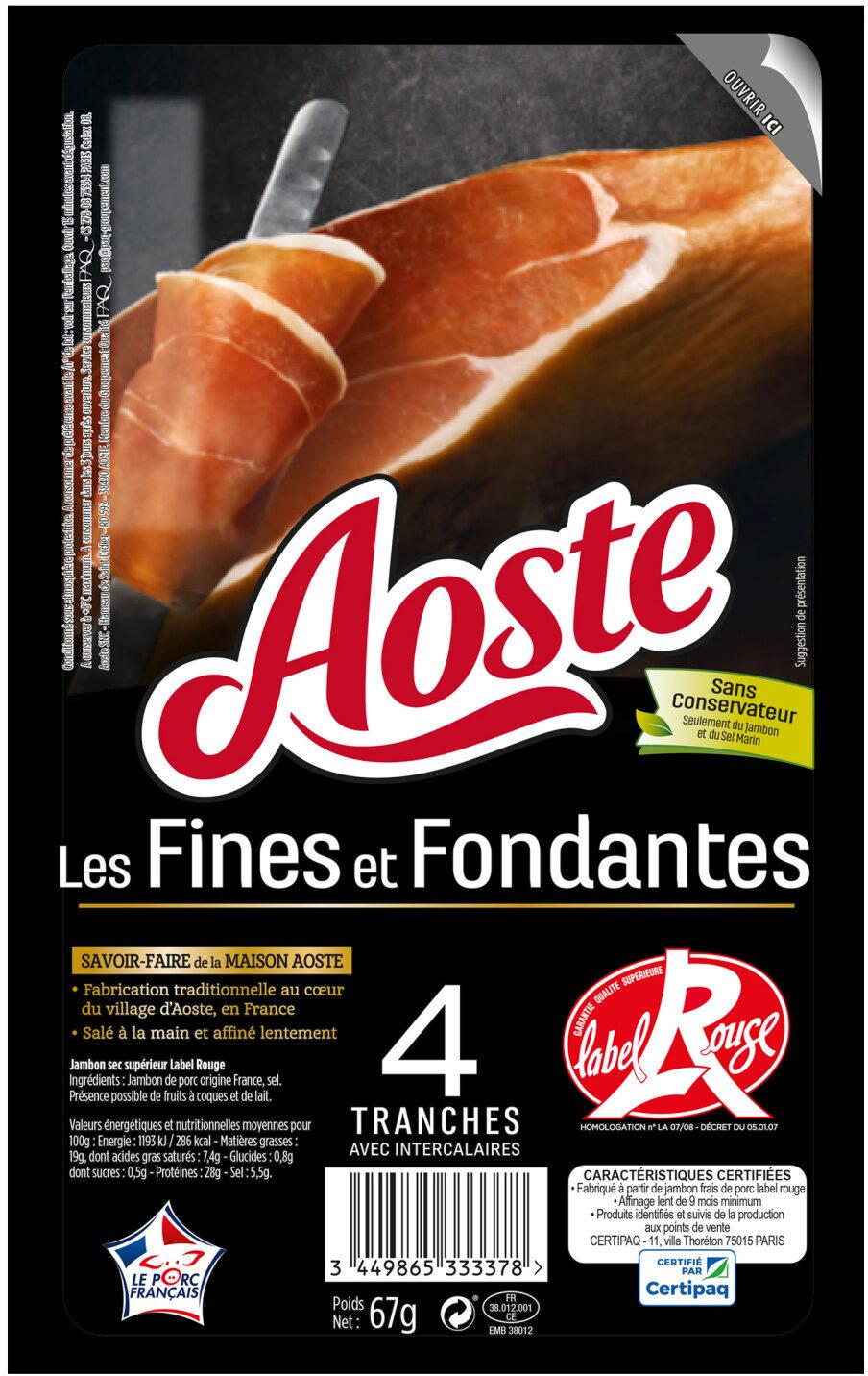 Les Fines et Fondantes - Prodotto - fr