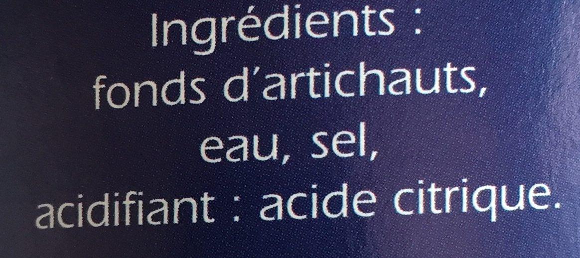 Fonds d'artichauts - Ingredients - fr