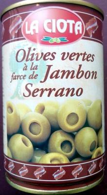 Olives Vertes à la Farce de Jambon Serrano - Produit - fr