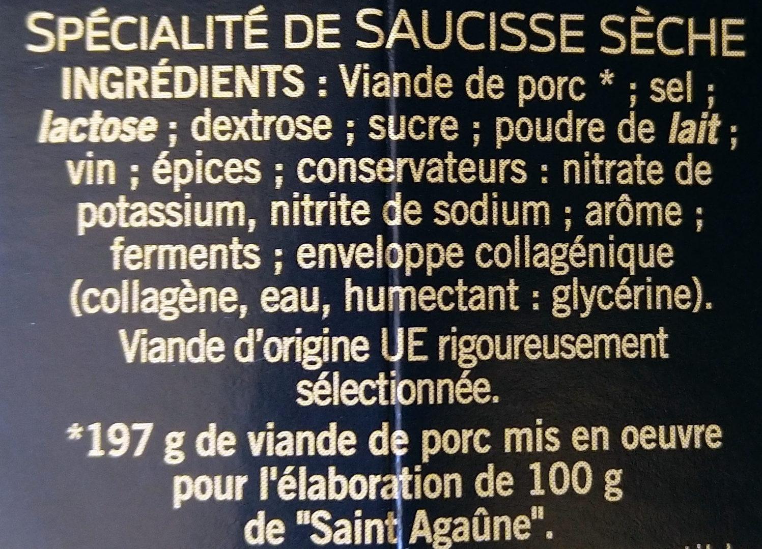 Saint Agaûme - Ingrédients - fr