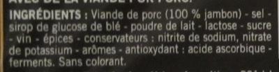 Saint Agaûne, les tranches - Ingrédients - fr
