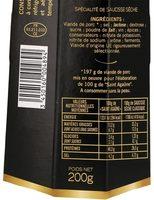 Saint agaune - Informations nutritionnelles - fr