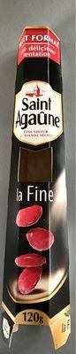Saint Agaûne Spécialité de saucisse sèche La Fine 120 g - Produit