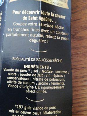 La fine - Ingrédients