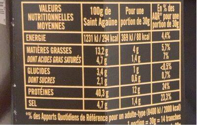 La fine - Informations nutritionnelles - fr