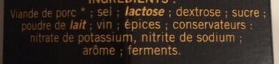 Saint Agaûne (format familial) - Ingrédients