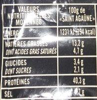 La Fine - Informations nutritionnelles