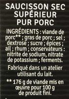 L'affiné - Ingrédients - fr