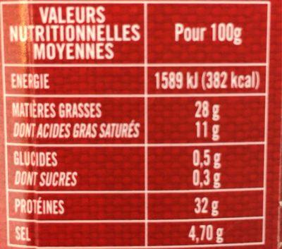 L'affiné - Informations nutritionnelles - fr