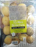 16 Mini Brioches Apéritif 4 variété - Produit - fr
