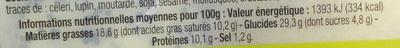 16 Mini Brioches Apéritif 4 variété - Informations nutritionnelles - fr