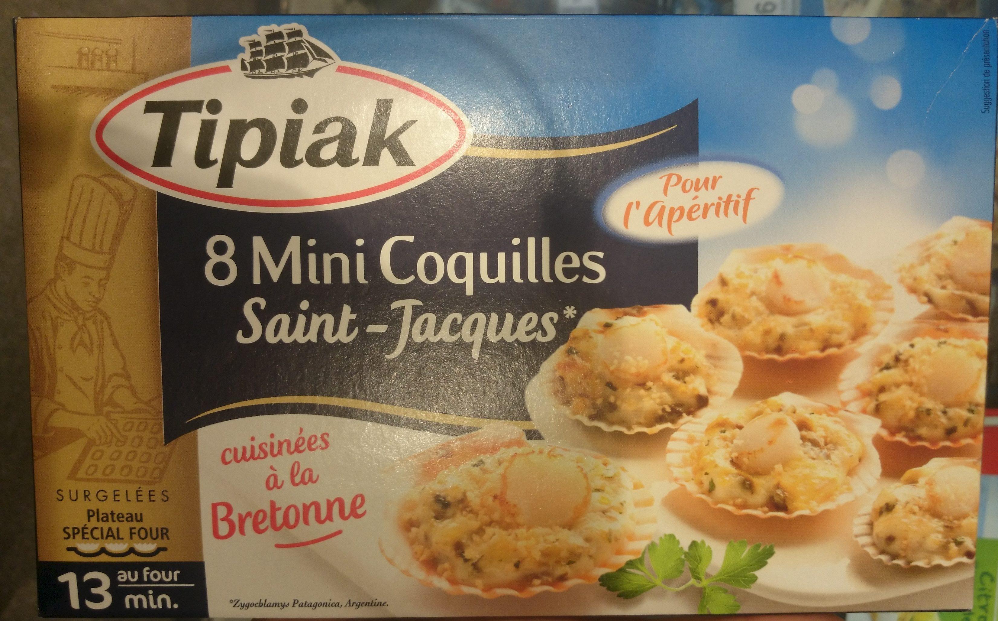 8 mini coquilles saint jacques tipiak 100 g - Coquille saint jacques bretonne champignons ...