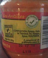 Purée de piments à l'huile - Ingredients