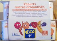 Yaourts sucrés aromatisés - Producto
