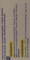 Yaourts sucrés aromatisés - Ingredientes