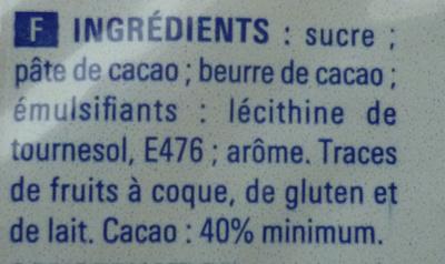 Chocolat - Ingrédients - fr