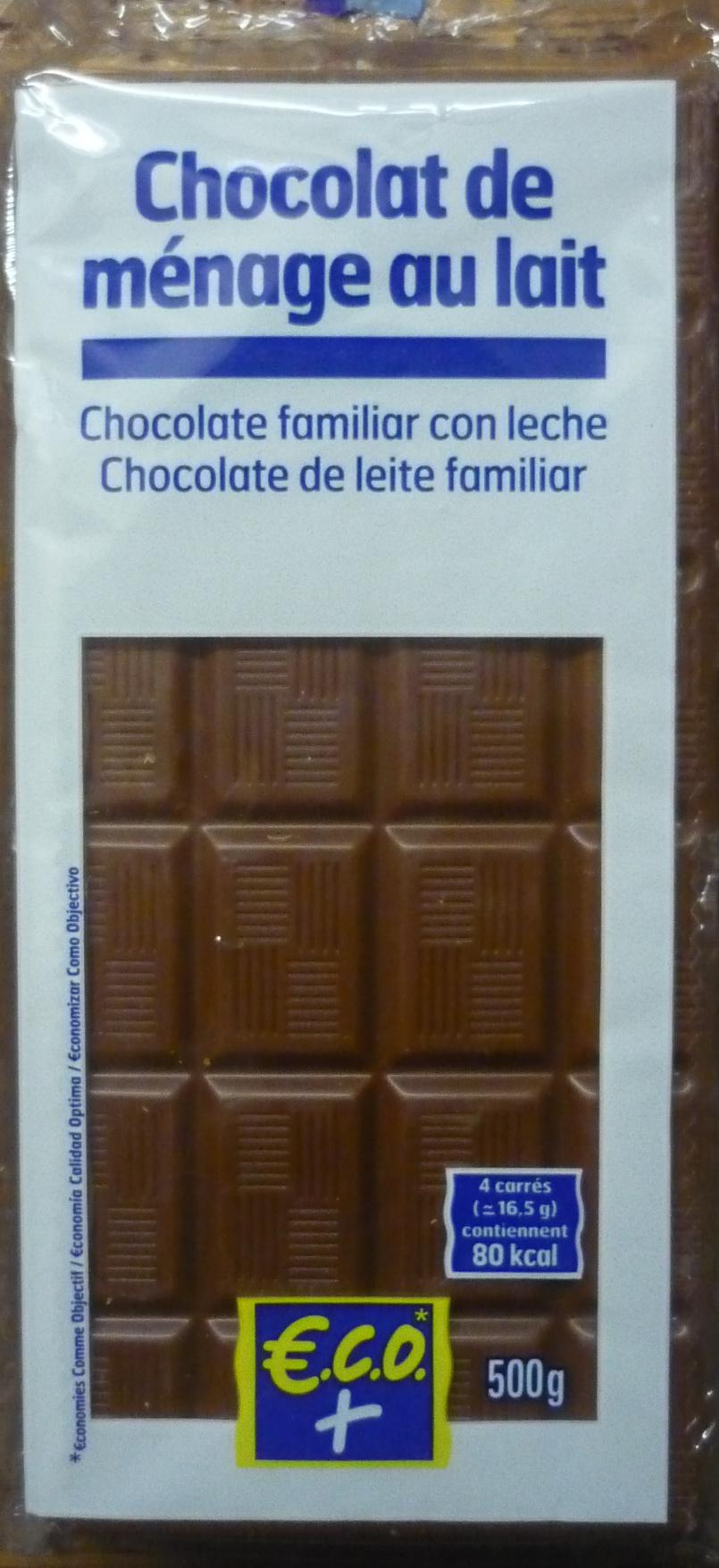 Chocolat De M Nage Au Lait Eco 5 X 100 G