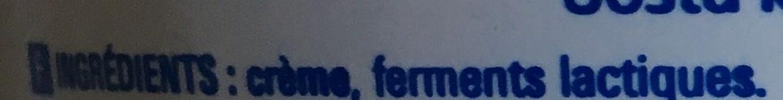 Crème fraîche épaisse - Ingrédients