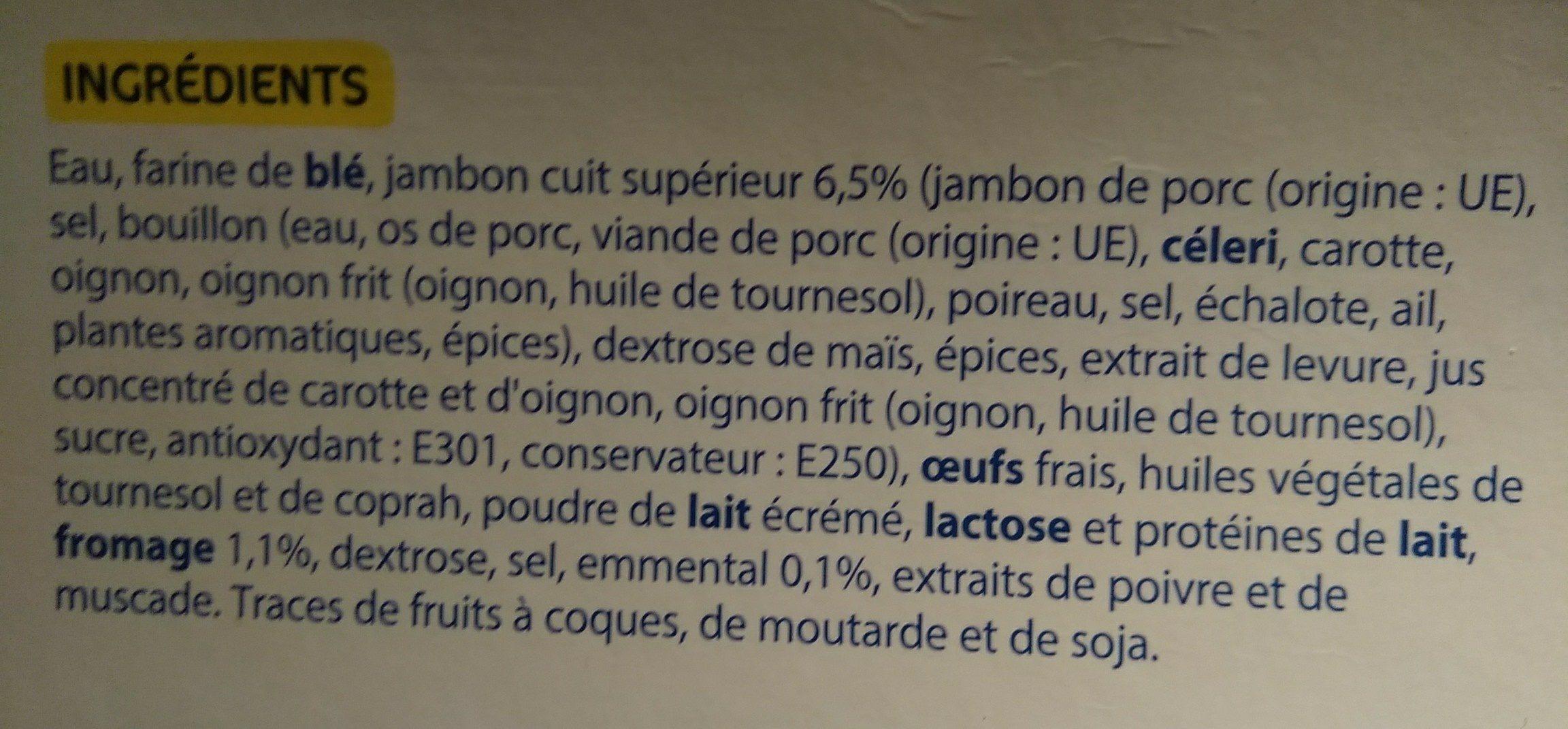 Crêpe jambon fromage - Ingredients - fr