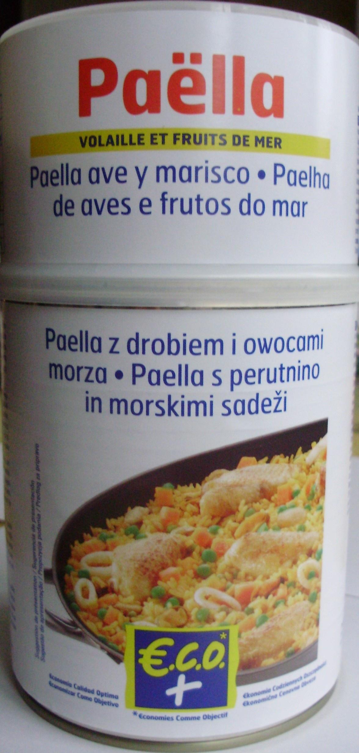 Paëlla (Volaille et Fruits de mer) ECO+ - Produit