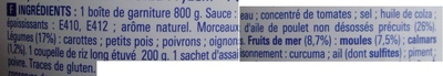 Paëlla (Volaille et Fruits de mer) ECO+ - Ingrédients