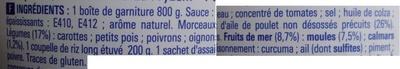 Paëlla (Volaille et Fruits de mer) ECO+ - Inhaltsstoffe - fr