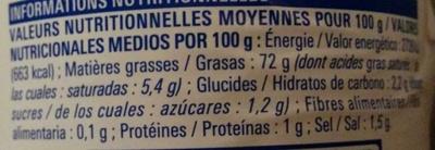 Mayonnaise à la moutarde de Dijon - Nutrition facts