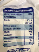 Pains Grilles F - Nutrition facts