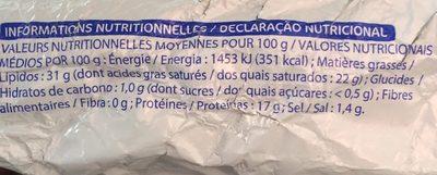 POINTE DE BRIE - Ingredients - fr