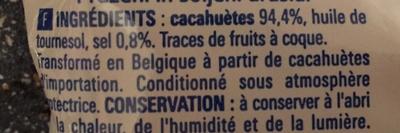 Cacahuètes grillées et salées - Ingrédients