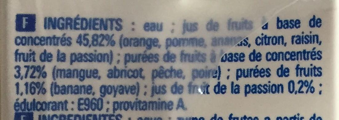 Nectar multrifruits - Ingredients - fr