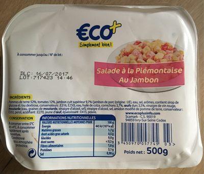 SALADE PIEMONTAISE - Nährwertangaben - fr