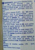 Cone Chocolat P - Ingredients