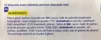 12 biscuits tablette chocolat noir - Ingrédients - fr